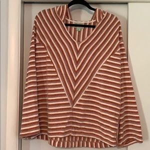 Anthropologie striped hoodie